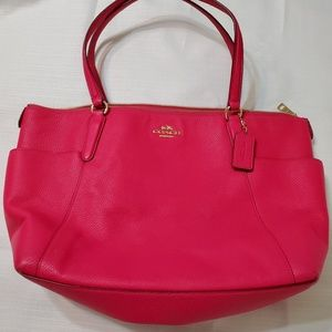 Coach Leather Pink with gold hardware